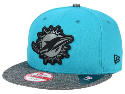 Miami Dolphins New Era NFL Gridiron Hook 9FIFTY Snapback Cap