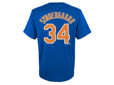 New York Mets Noah Syndergaard Majestic MLB Youth Official Player T-Shirt