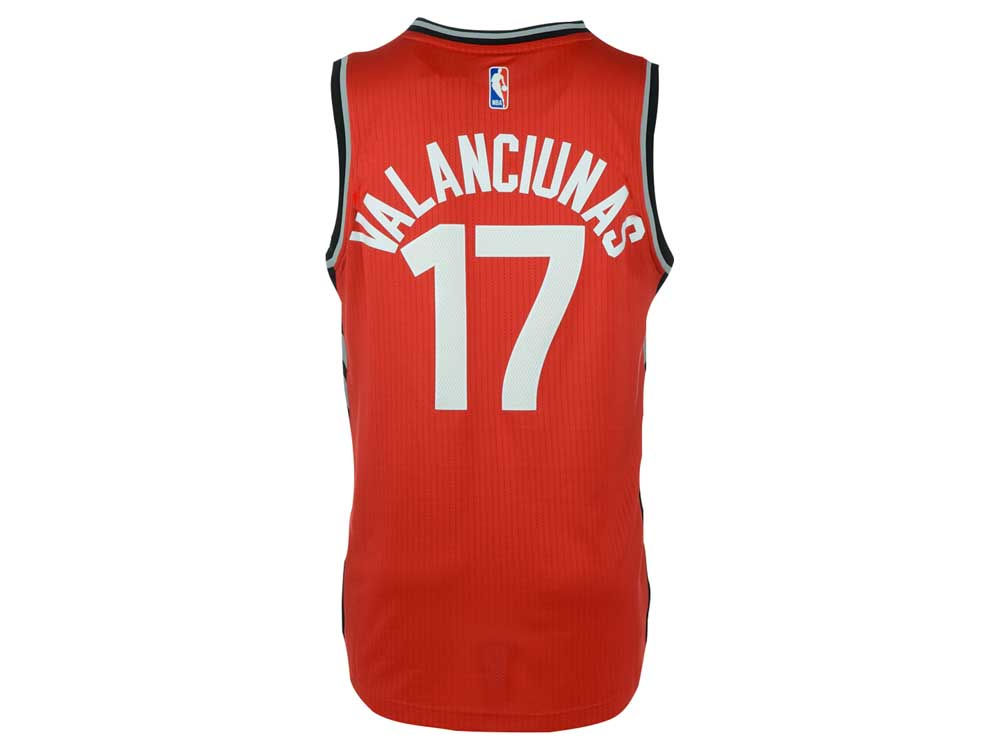Toronto Raptors Jonas Valanciunas adidas NBA Men s Swingman Jersey ... aa6df57de