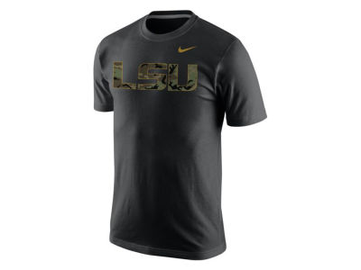 LSU Tigers Nike NCAA Men's Camo Hook T-Shirt