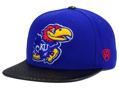 Kansas Jayhawks Top of the World NCAA Carbonite Snapback Cap