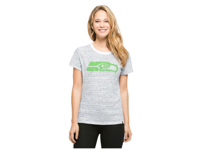 Seattle Seahawks '47 NFL Women's Sparkle Stripe T-Shirt