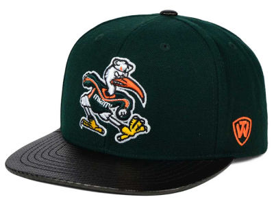 Miami Hurricanes Top of the World NCAA Carbonite Snapback Cap