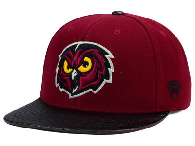Temple Owls Top of the World NCAA Carbonite Snapback Cap