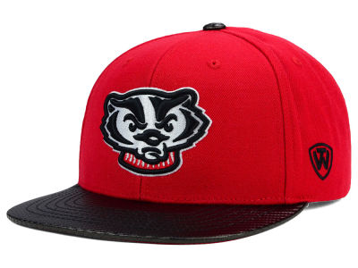 Wisconsin Badgers Top of the World NCAA Carbonite Snapback Cap
