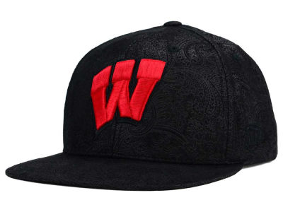 Wisconsin Badgers Top of the World NCAA Phasely Snapback Cap