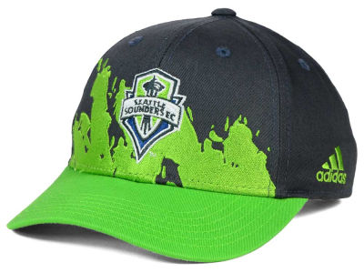 Seattle Sounders FC adidas MLS Kids Goal Scorer Adjustable Cap