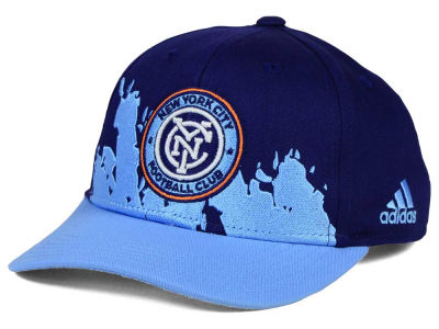 New York City FC adidas MLS Kids Goal Scorer Adjustable Cap