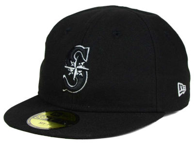Seattle Mariners New Era MLB Youth My First Black/White 59FIFTY Cap