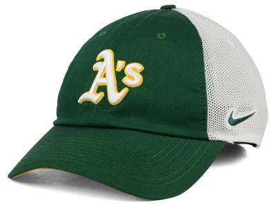 Oakland Athletics Nike MLB Dri-Fit Mesh Swoosh Adjustable Cap