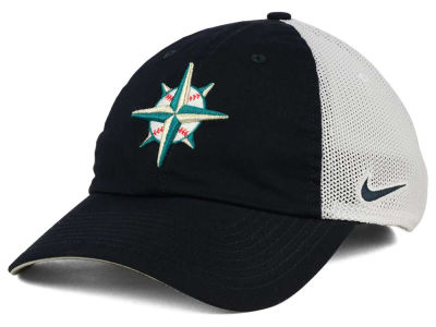 Seattle Mariners Nike MLB Dri-Fit Mesh Swoosh Adjustable Cap