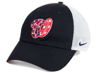 Washington Nationals Nike MLB Dri-Fit Mesh Swoosh Adjustable Cap