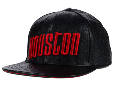 Houston Rockets Pro Standard NBA Premium All Leather Strapback Hat