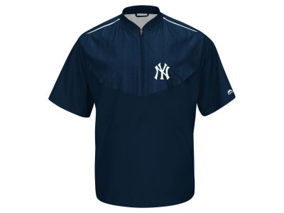 New York Yankees Majestic MLB Men's AC Short Sleeve Training Jacket