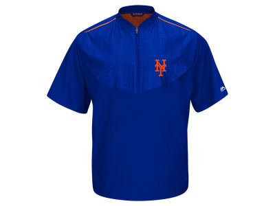 New York Mets Majestic MLB Men's AC Short Sleeve Training Jacket