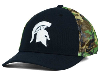 Michigan State Spartans Nike NCAA Camo Hook Swooshflex Cap