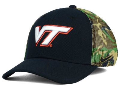 Virginia Tech Hokies Nike NCAA Camo Hook Swooshflex Cap