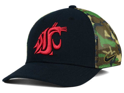 Washington State Cougars Nike NCAA Camo Hook Swooshflex Cap