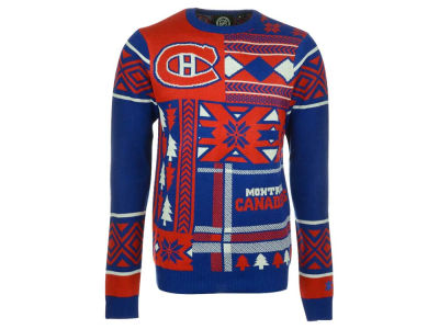 Montreal Canadiens La Tilda NHL Men's Patches Ugly Sweater