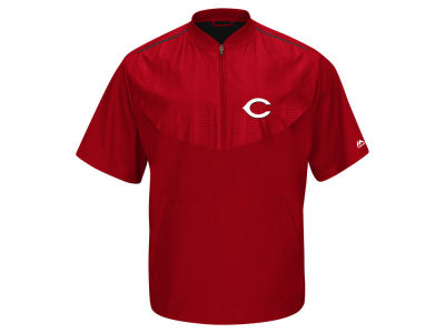 Cincinnati Reds Majestic MLB Men's AC Short Sleeve Training Jacket