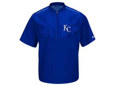 Kansas City Royals Majestic MLB Men's AC Short Sleeve Training Jacket