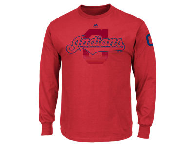 Cleveland Indians MLB Men's Pressing Issues Long Sleeve T-Shirt