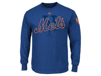 New York Mets MLB Men's Pressing Issues Long Sleeve T-Shirt