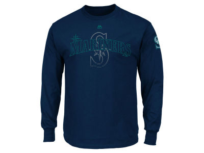 Seattle Mariners MLB Men's Pressing Issues Long Sleeve T-Shirt