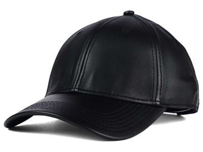 Gents Black Leather Cap