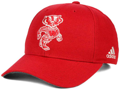 Wisconsin Badgers adidas NCAA Hardwood Classics Adjustable Cap