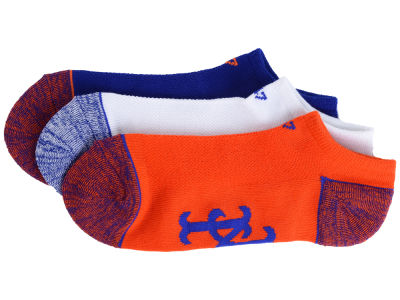 New York Mets 3-pack Blade Motion No Show Socks