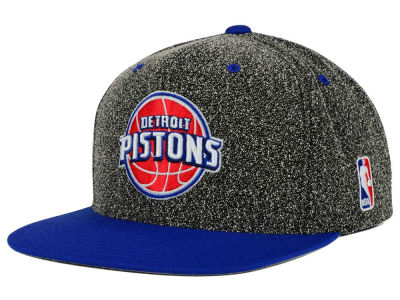Detroit Pistons Mitchell and Ness NBA Static Team Logo Snapback Cap
