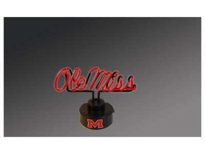 Ole Miss Rebels Team Logo Neon Light