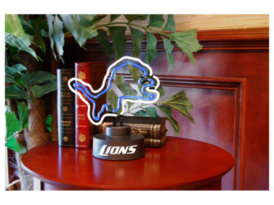 Detroit Lions Team Logo Neon Light
