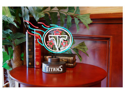 Tennessee Titans Team Logo Neon Light