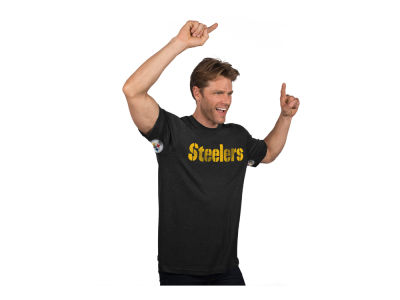 Pittsburgh Steelers NFL Men's Hands High Blowout Triblend T-Shirt