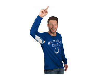 Indianapolis Colts GIII NFL Men's Hands High Play Action Slub Jersey Long Sleeve T-Shirt