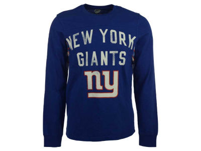 New York Giants GIII NFL Men's Hands High Play Action Slub Jersey Long Sleeve T-Shirt