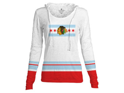 Chicago Blackhawks NHL Women's Skate Lace Lucy Flag Long Sleeve T-Shirt