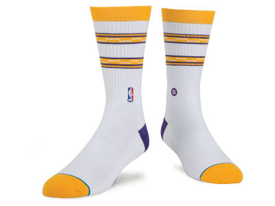 Los Angeles Lakers Stance NBA Arena Core Crew Sock
