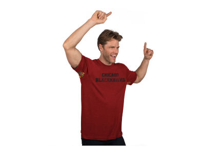 Chicago Blackhawks NHL Men's Hands High Blowout Triblend T-Shirt