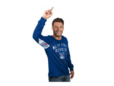 New York Rangers NHL Men's Play Action Slub Jersey Long Sleeve T-Shirt