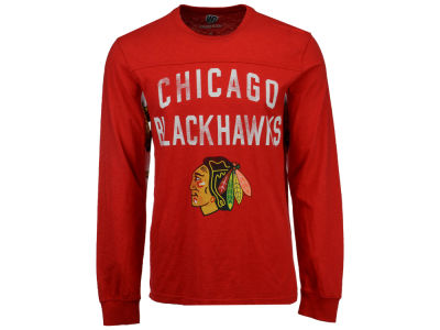 Chicago Blackhawks NHL Men's Play Action Slub Jersey Long Sleeve T-Shirt