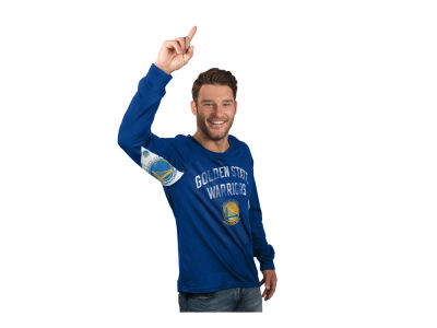 Golden State Warriors GIII NBA Men's Hands High Play Action Slub Long Sleeve T-Shirt