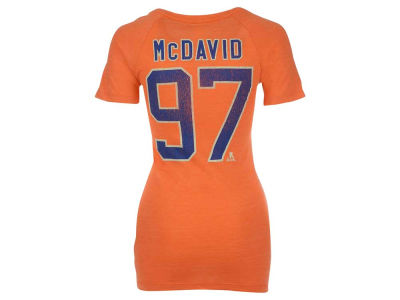 Edmonton Oilers Connor McDavid Reebok NHL Women's V-Neck Tri-Blend Player T-Shirt