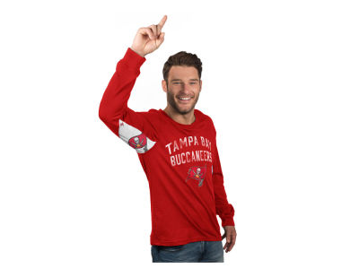 Tampa Bay Buccaneers G-III Sports NFL Men's Hands High Play Action Slub Jersey Long Sleeve T-Shirt