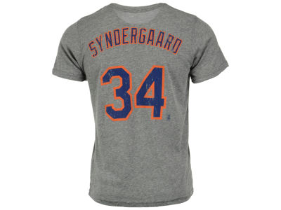 New York Mets Noah Syndergaard Majestic MLB Men's Triblend Jersey Player T-Shirt