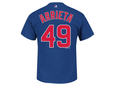 Chicago Cubs Jake Arrieta Majestic MLB Men's Official Player T-Shirt