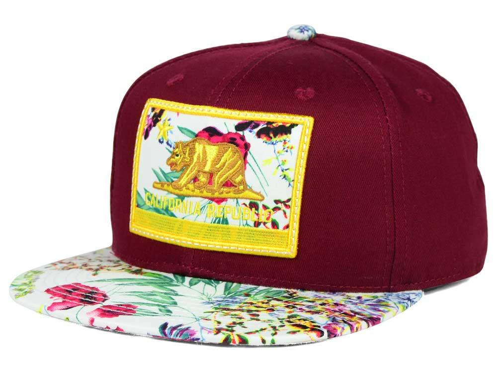 Official Calif Burg Floral Snapback Hat  51d9d5cd48c6