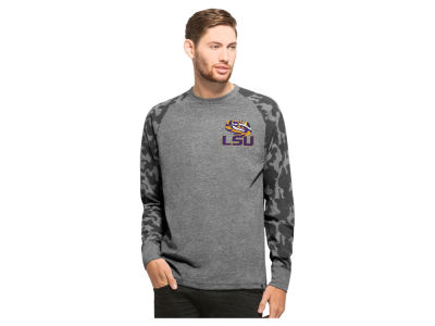 LSU Tigers NCAA Men's Recon Camo Raglan Crew Fleece
